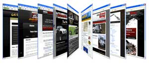 image of websites on screens